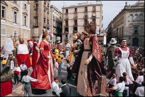 Барселона Ла-Мерсе куклы-гиганты